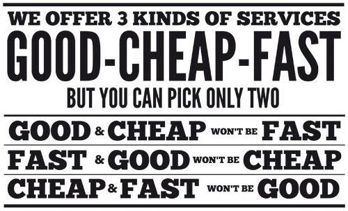goed goedkoop snel