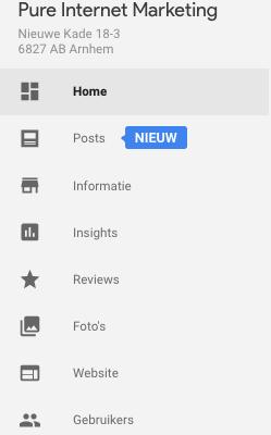 opties google mijn bedrijf