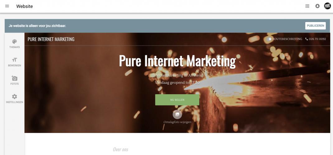 google mijn bedrijf website