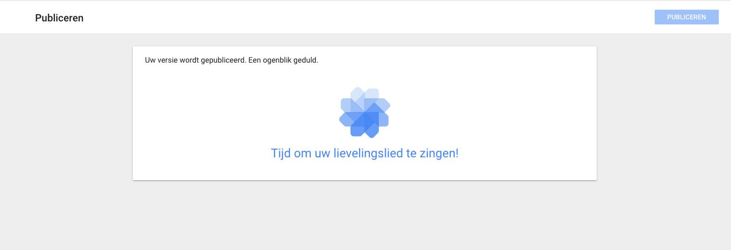 google tag manager - gepubliceerd