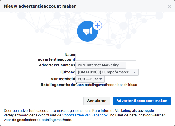 facebook advertentieaccount aanmaken