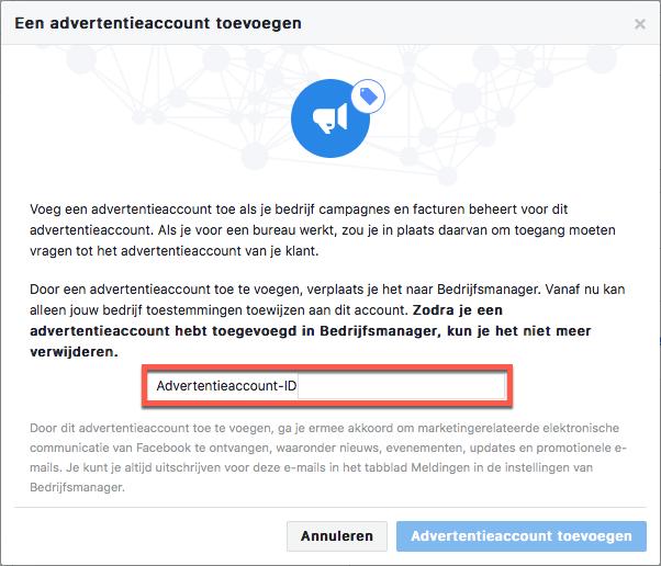 facebook advertentieaccount aanmaken
