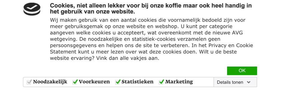 Cookie-melding