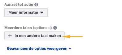 meertalig adverteren facebook