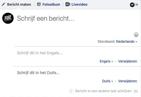 meertalig facebook voorbeeld