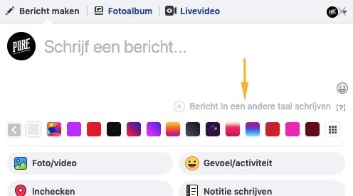 meertalig facebook