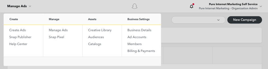 Ad manager Snapchat