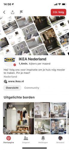 Ikea pagina Pinterest