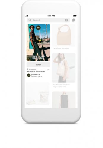 Pinterest Gesponsorde app-pins