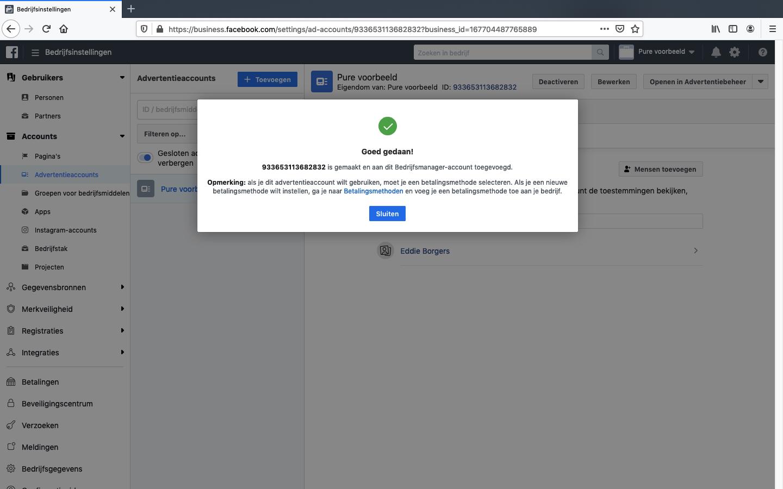 facebook advertentieaccount aanmaken stap 6