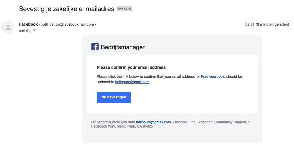 facebook bedrijfsmanager account aanmaken stap 5