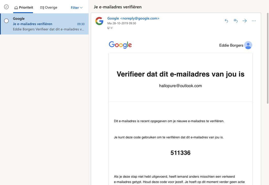 google account aanmaken stap 2