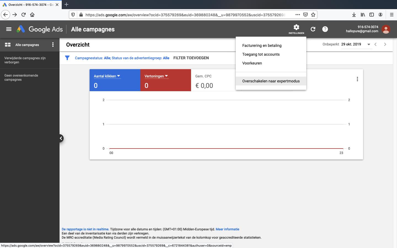 google ads account aanmaken stap 6