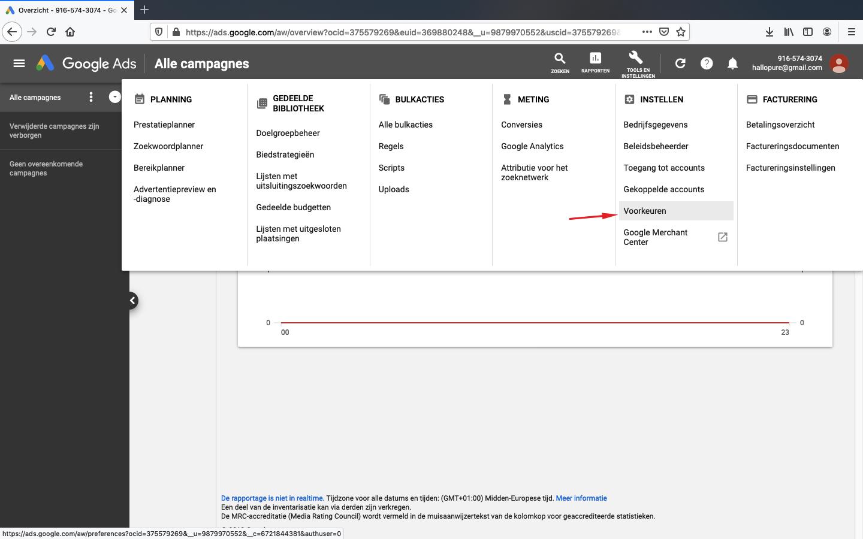 google ads account aanmaken stap 8