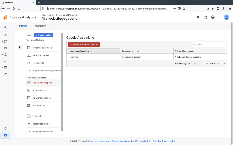 google ads koppelen aan analytics stap 5