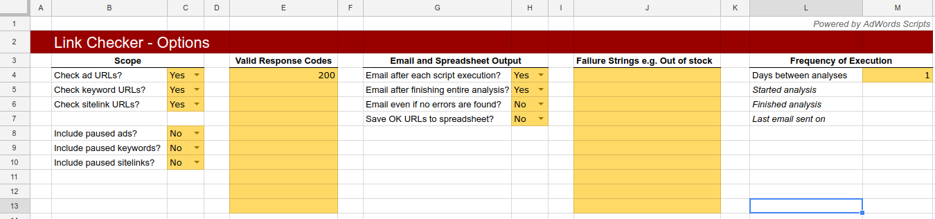 Link checker script van Google