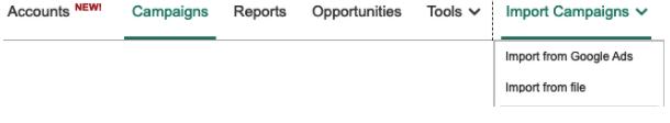 Microsoft Ads Google Ads import