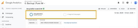 Segment aanmaken Google Analytics