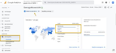 Vergelijking maken Google Analytics 4