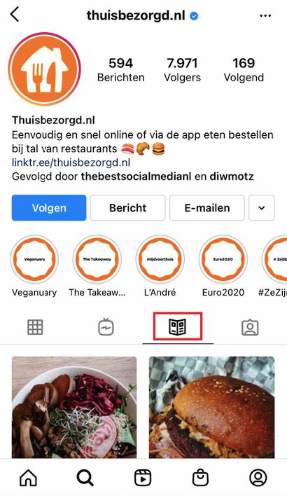 Account Thuisbezorgd Instagram Guide