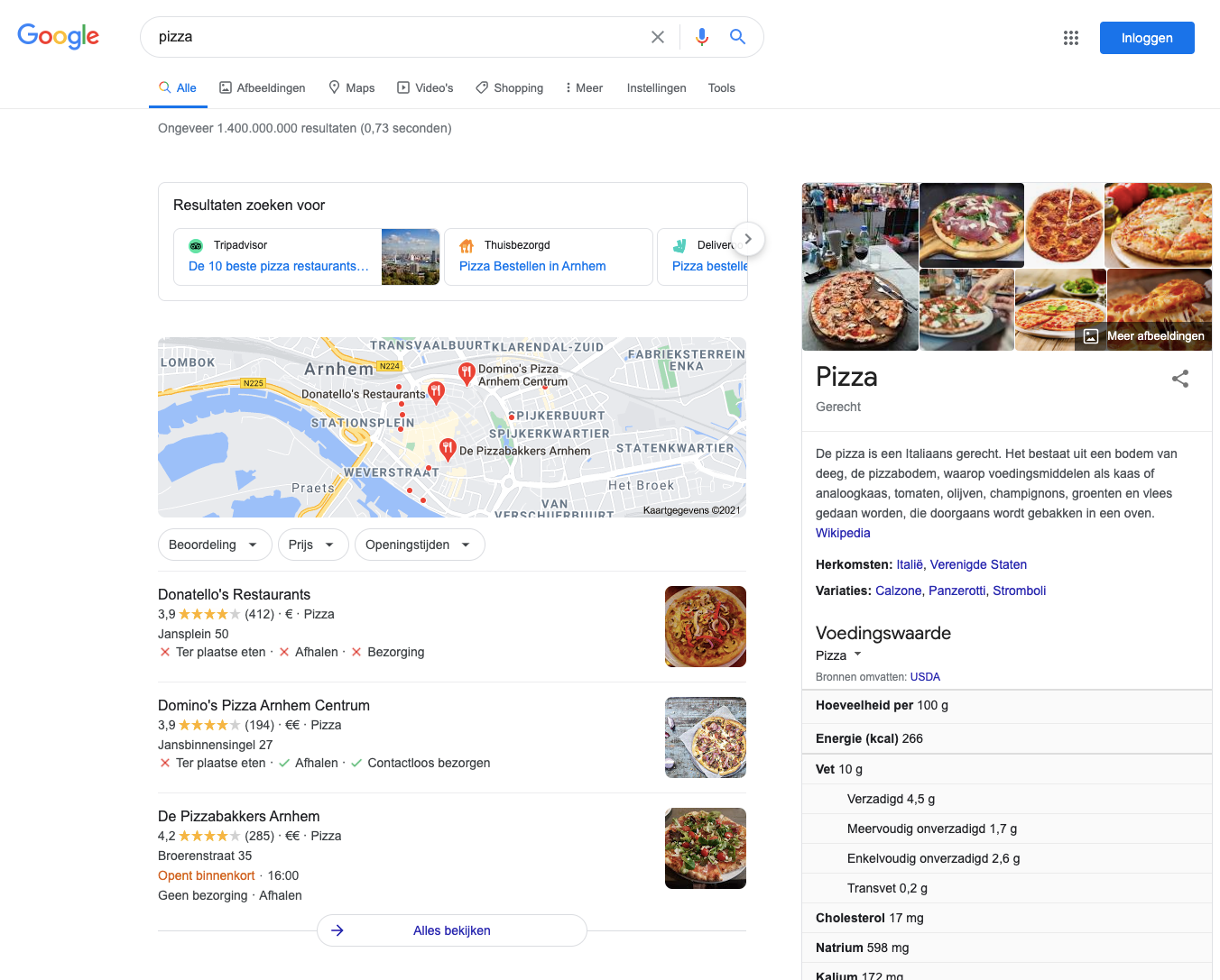 lokale seo pizza desktop
