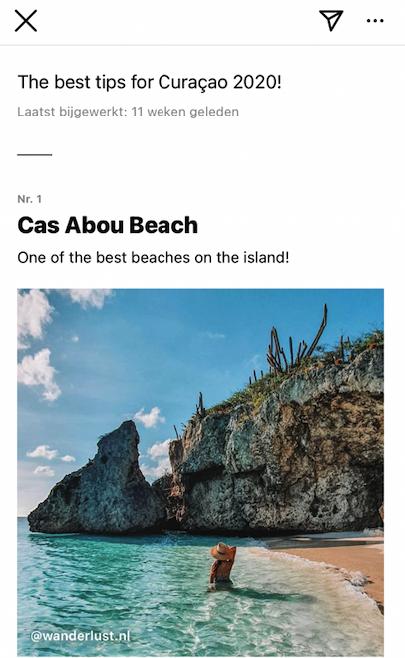 Voorbeeld plaatsen Instagram Guide