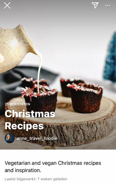 Voorbeeld recepten Instagram Guide