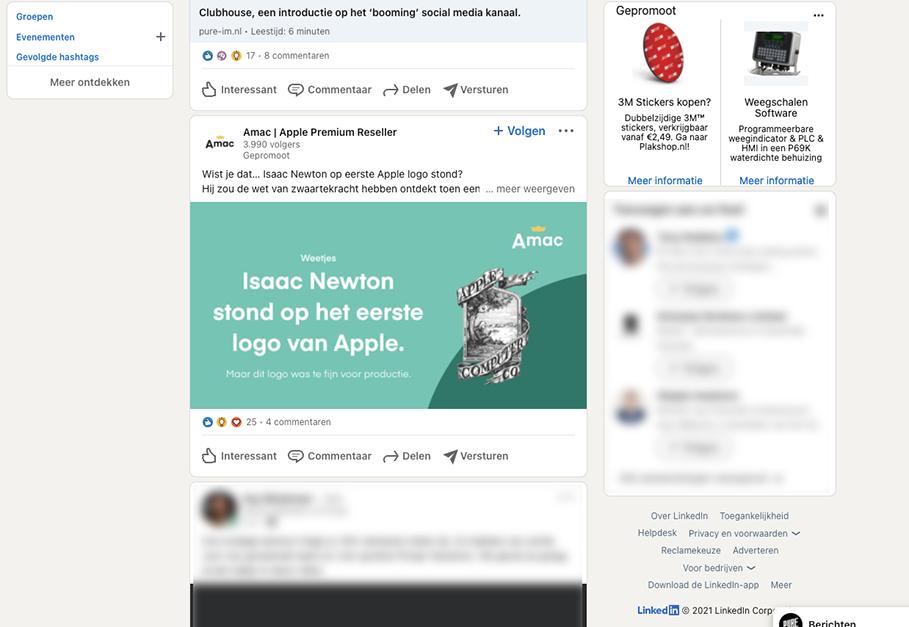 Linkedin Advertentie