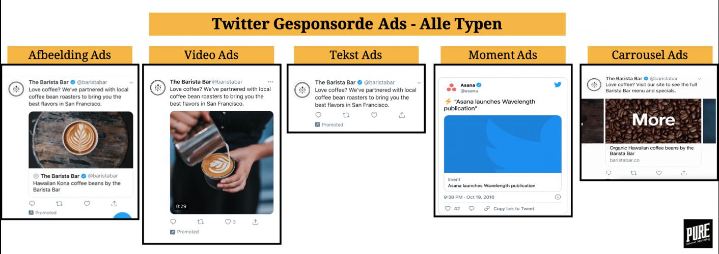 Twitter adverteren alle gesponsorde advertentie ads mogelijkheden